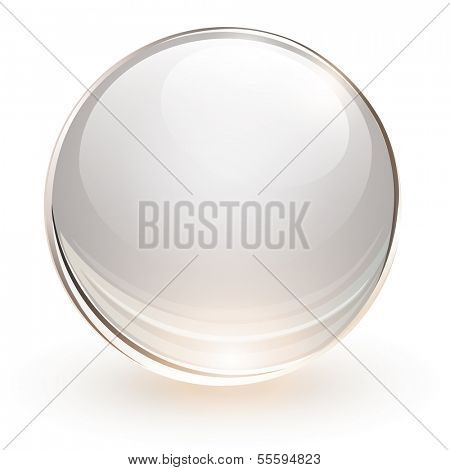 3D glass sphere, vector illustration.