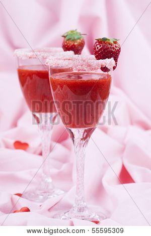 Valentines Strawberry Drink