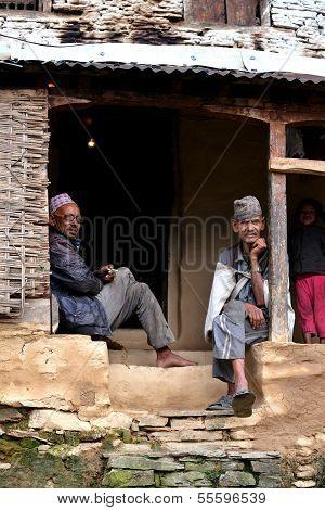 Gurung Sherpas In The Himalayas, Nepal