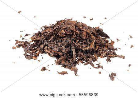 Chinese Dark Tea Pu-erh Isolated On White Background