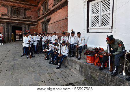 Nepalese Soldiers In Kathmandu