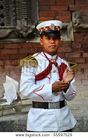 Member Of The Military Orchestra Of Nepal