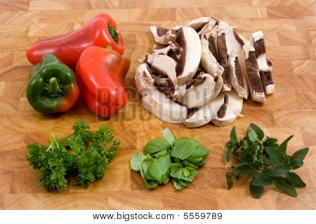 Assorted Vegetable Cooking Ingredients