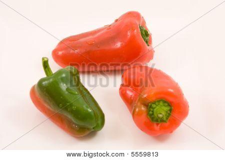 Three Miniature Peppers
