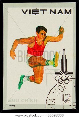 VIETNAM - CIRCA 1980: A stamp printed in VIETNAM, Olympic games
