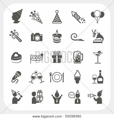 Feier und Party Icons set