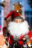 stock photo of merry chrismas  - mini santa claus on chrismas the background - JPG