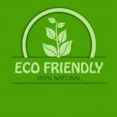 pic of 100 percent  - Eco friendly 100 percent natural concept background vector illustration - JPG