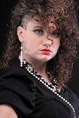 Piercing Woman with Curly Hair
