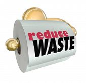 stock photo of waste reduction  - Reduce Waste Cut Resource Material Use Trash - JPG