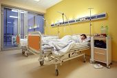 foto of infirmary  - Real people in real situation sad middle - JPG