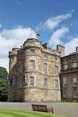 Edinburgh, Scotland - August 30: Holyrood Palace On August 30, 2013 In Edinburgh. Holyrood Palace
