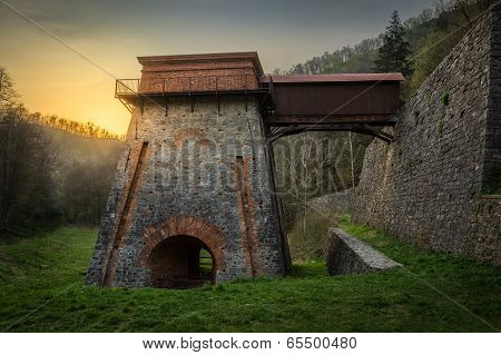 Old Blast Furnace Near Adamov