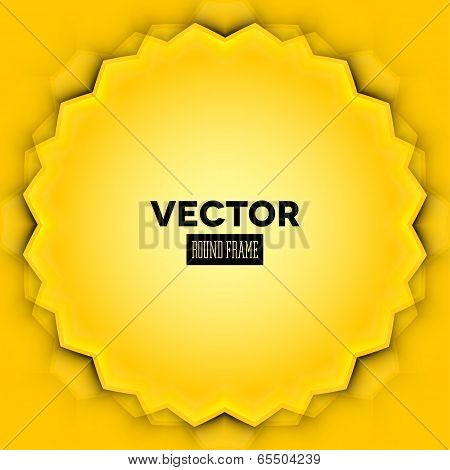 Abstract vector frame with yellow leaves