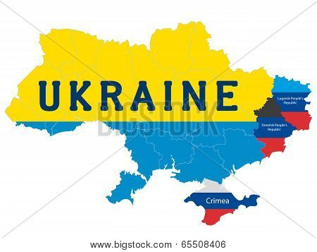 Separate regions of Ukraine, spring events in 2014.
