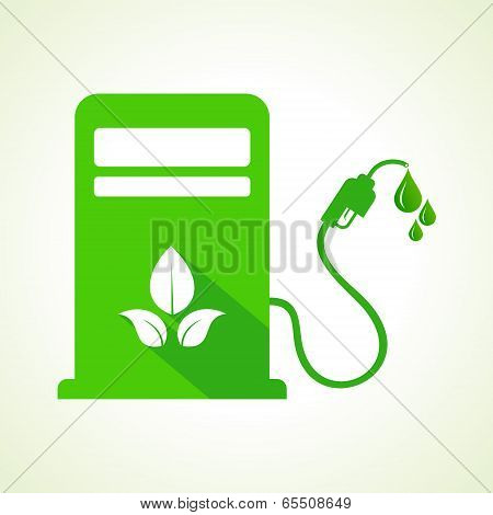 Bio fuel concept with petrol pump machine stock vector