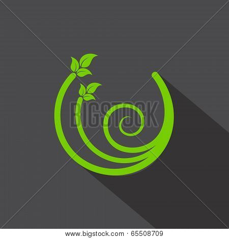 Eco leaf icon stock vector