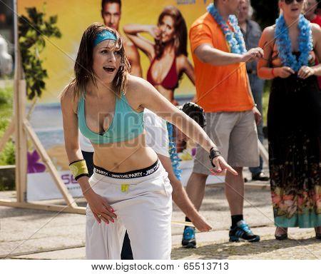 Sexy Girl Dance Zumba Class