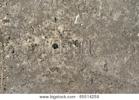 Aged brown cemented floor