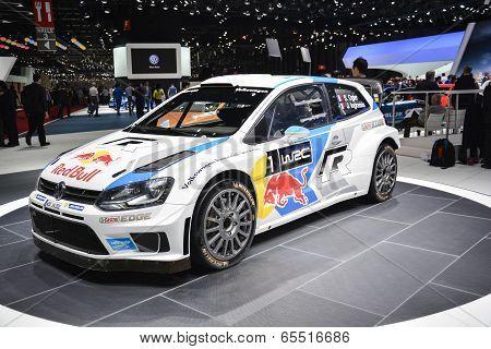 Volkswagen Polo R Wrc World Rally Car At The Geneva Motor Show