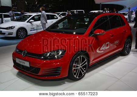 Vw Golf Gtd At The Geneva Motor Show