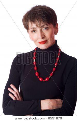 Mulher de negócios maduros