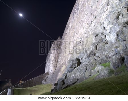 Edinburgh Castle Ramparts At Night