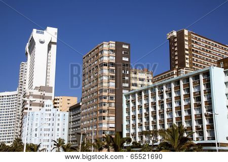 Comercial And Residential Complexes Against Blue Sky