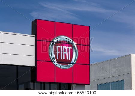 Fiat Automobile Dealership Sign