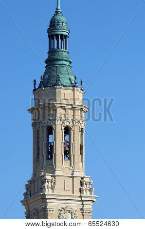 View of the  basilica of the Virgen del Pilar, Zaragoza, Aragon, Spain