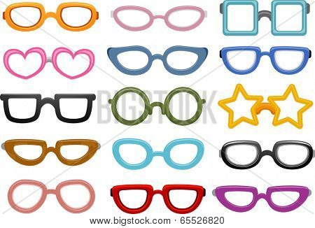 Illustration Featuring Different Eyeglasses Designs