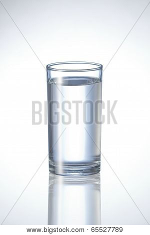 pure water in glass