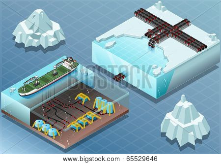 Isometric Arctic Subsea Farm And Tubes