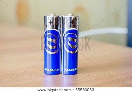 Two Blue Batteries