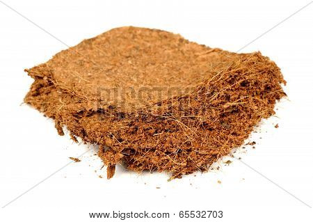 Coconut Coir Isolated On White Background