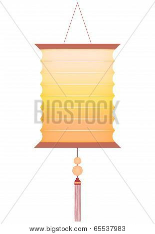 Traditional And Decorative Chinese Lantern Isolated On White