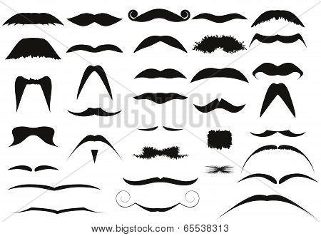 Set Of Male Mustache