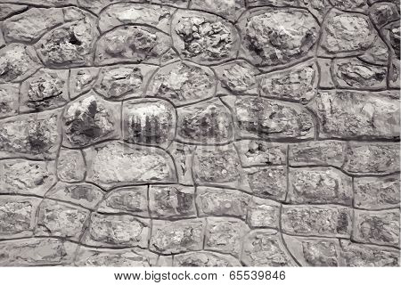 Stone Blocks Wall, Texture Background. Vector Illustration