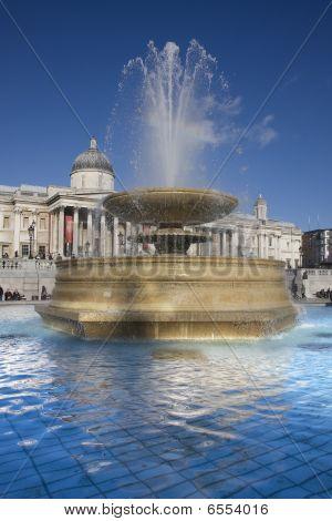 Trafalgar Square Fountain Portrait
