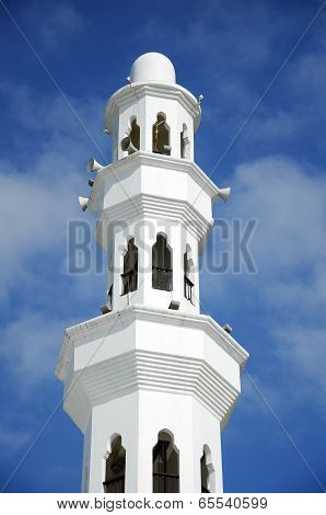 Minaret of Tengku Tengah Zaharah Mosque in Terengganu