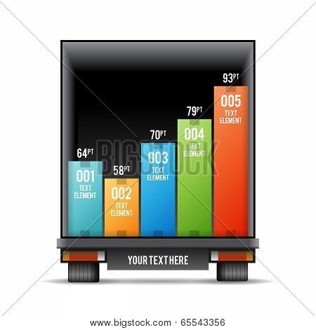 Truck Back Distribution Bar Graphic