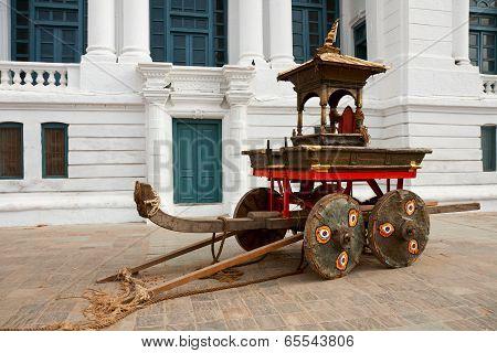 Ancient Chariot In Kathmandu
