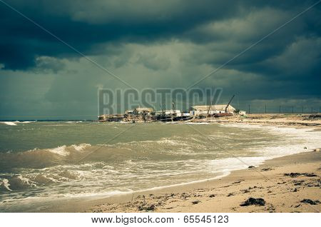 Storm Over The Sea.