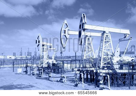 Pump Jack On A Oilfield.