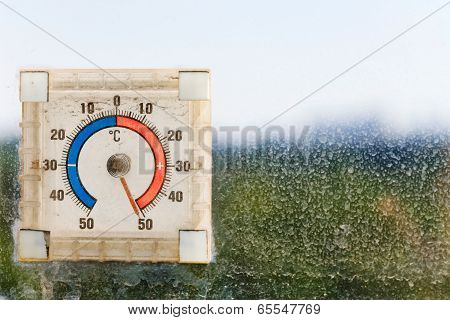 Fifty Degrees Celsius On Outdoor Thermometer