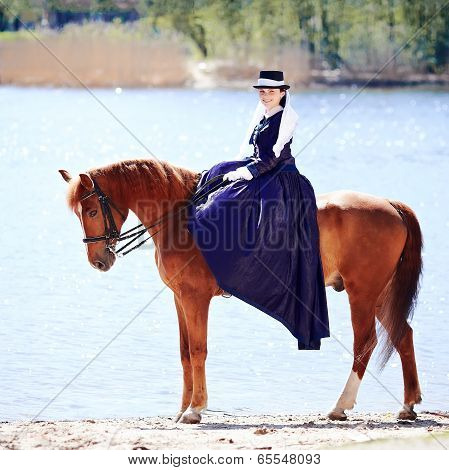 The Lady On Riding Walk.