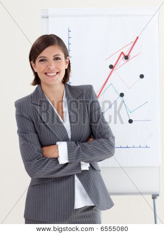 Confident Businesswoman With Folded Arms