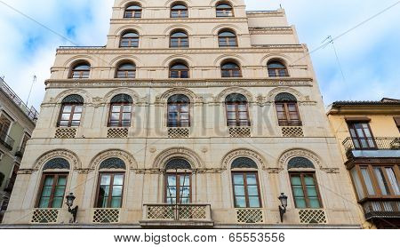 Valencia Diputacion building in Plaza sant Vicent Ferrer square in Spain