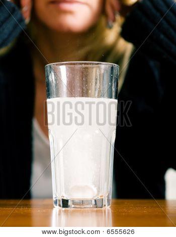 Glas with medicine