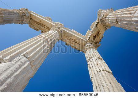 Ancient temple of Trajan, Bergama, Turkey